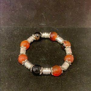Bloodstone (brown/black/orange) bracelet